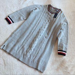 NWT Tommy Hilfiger Cotton Blend Knit Sweater Dress
